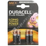 Duracell Plus AAA Batteries - Pack of 4