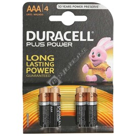 Duracell Plus AAA Batteries - Pack of 4 - ES1387099