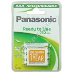 Panasonic AAA Ready To Use Rechargeable Batteries - Pack of 4