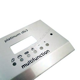 Belling Stainless Steel Cooker Control Panel Fascia for Platinum DB3 - ES655279