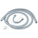 Universal Washing Machine & Dishwasher Drain Hose Extension Pipe - 2.5m