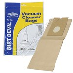 Electruepart BAG181 Dirt Devil Vacuum Dust Bags (DD Type) - Pack of 5
