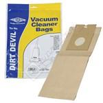 Electruepart BAG181 Dirt Devil Vacuum Dust Bags (DD Type) - Pack of 5