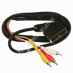 Scart To 3 Phono Plug Lead
