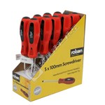 Rolson Box of 10 Slotted Screwdrivers