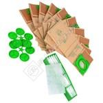 Vacuum Cleaner Paper Bag & Filter Kit - Pack of 10