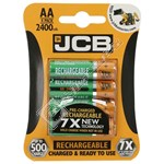 JCB AA Rechargeable Batteries (Pack of 4)