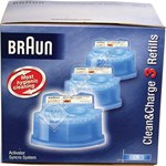 Braun CCR3 Clean and Renew Refill Cartridges - Pack of 3