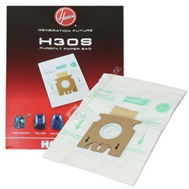 H30S Super Filtration Fibre Vacuum Bags - Pack of 5 - ES482153