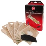 H20 Vacuum Cleaner High Filtration Bags and Pre-Motor Filter Pack