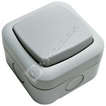 Timeguard White Single Gang Outdoor Switch - 230V