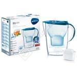 Brita 1024043 Marella M+ Basic Blue Water Filter Jug 2.4L