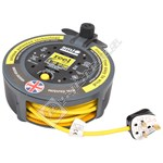 4 Socket Extension Cable Reel - 10 Metre