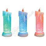 The Christmas Workshop LED Colour Changing Water & Glitter Candle