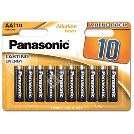 Panasonic AA Alkaline Power Batteries - Pack of 10 - ES1553984