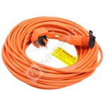 Compatible Flymo Replacement Mains Cable - 20m (UK Plug)