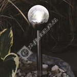 Kingfisher Solar Glass Ball Border Light - 6cm