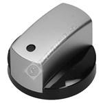 Black and Chrome Finish Control Knob