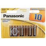 Panasonic AAA Alkaline Power Batteries - Pack of 10