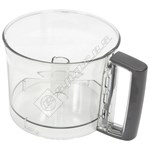 Black Food Processor Main Mixer Bowl