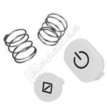 Washing Machine White Push Button Kit