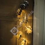 10 Warm White LED Metal Tree Cutter Garland