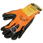 Rolson Textured Nitrile Coated Work Gloves - Large