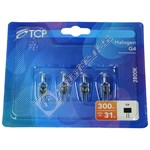 TCP G4 20W Halogen Capsule Lamp - Pack of 4