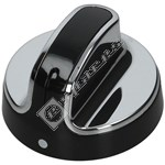 Hob Control Knob Black/Chrome