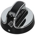 Black & Chrome Hob Control Knob