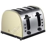 Russell Hobbs 21302 Legacy 4 Slice Toaster - Cream