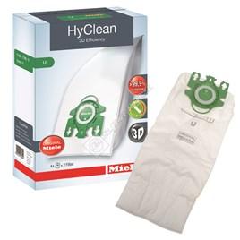 Miele Type U 3D Hyclean Vacuum Dust Bag - Pack of 4 - ES1394873