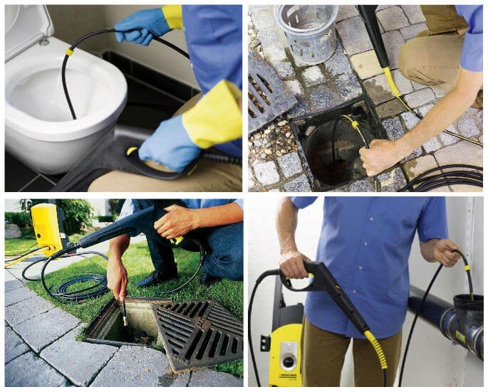 Karcher pipe and drain cleaning kit
