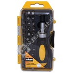 Rolson 38 Piece Stubby Ratchet Screwdriver & Bit Set