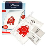 Miele FJM HyClean 3D Efficiency Vacuum Dust Bag & Filter Pack - Pack of 4