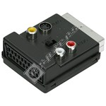 Scart Adaptor - 3x Phono - 1x S-VHS. Audio/video in/out