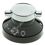 Hob Control Knob - Black & Silver