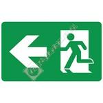 Eterna LED Emergency Exit Box Left Arrow Legend