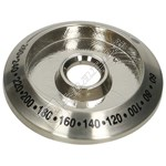 Stainless Steel Oven Control Knob Bezel