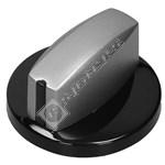 Black/Silver Hob Control Knob