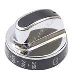 Top Oven Control Knob - Chrome