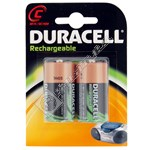 Duracell C Rechargeable Batteries - 2 Pack