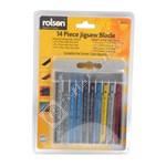 Rolson 14 Piece Jigsaw Blade Assortment