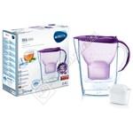 Brita 1024049 Marella M+ Basic Purple Water Filter Jug 2.4L