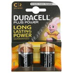 Plus C Alkaline Batteries (Pack of 2)
