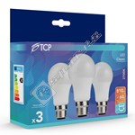 TCP BC/B22 9.1W LED Non-Dimmable GLS Lamp - Pack of 3