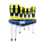 Rolson 6 Piece Screwdriver Set On Wall Rack