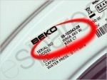Beko Washing Machine Model Number Closeup