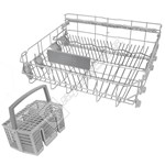 Dishwasher Lower Basket Assembly With Cutlery Basket