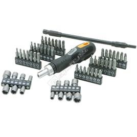 Rolson Ratchet Handle Screwdriver Bit & Socket Set - 58 Piece - ES1584155